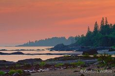 Lake Superior At Sunset_49800.jpg - Photographed on the north shore of Lake Superior near Wawa, Ontario, Canada.