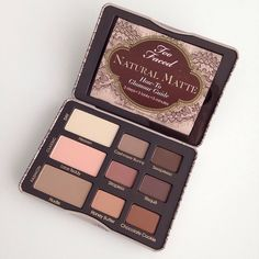 natural matte palette #toofaced