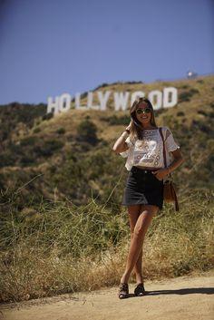 Top: vintage. Falda/skirt: Topshop. Mules: Ursulitas. Bolso/bag: Chloe. Gafas de sol/sunnies: Rayban.