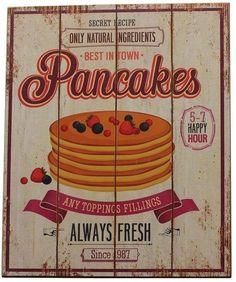 Decoratiune de perete Pancakes Lemn 40x30 cm Best Sellers, Pancakes, Canning, Pancake, Home Canning, Crepes, Conservation