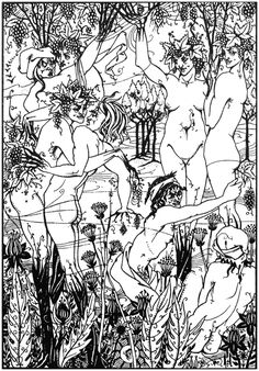 Snare of Vintage (Suppressed) from 'Lucian's True History', Aubrey Beardsley