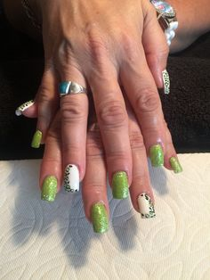 Lime green cougar bling