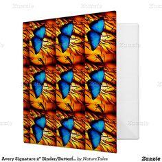 "Avery Signature 2"" Binder/Butterflies Vinyl Binder"