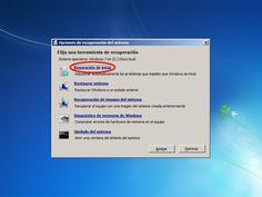 Reparar Windows 7: Opciones para reparar Windows