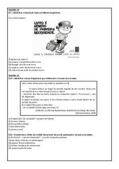 Simulado com descritores PROEB português 5º ano