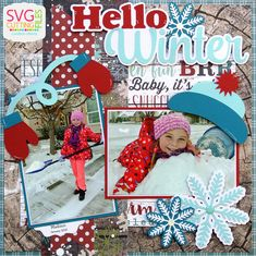 This is Candace from Candi O. Designs and I'm here to showcase a new Page Layout by SVG Cutting Files that will be available. Winter Poster, Winter Christmas, Christmas Gifts, Winter Instagram, Echo Park Paper, Hello Winter, Winter Wallpaper, O Design, Winter House