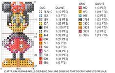 28/06/12 : Grille de point de croix gratuite - Minnie