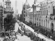 Funeral presidente Pedro Montt, 1910 Santiago Chile, Vintage Photography, South America, Paris Skyline, Cathedral, Memories, Travel, First Night, Germany Travel