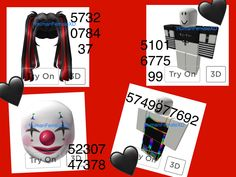 #robloxgame #bloxburg #bloxburgoutfit #bloxburgcodes #codes #outfits #clothing #clothes #clown if ya want me to make you an outfit, ask and ill make what you want and tag u!! Please sub to my channel and join my roblox group! My user is always HumanFemaleXD!!✨ Roblox Funny, Roblox Roblox, Play Roblox, Clown Clothes, Roblox Animation, Cool Avatars, Roblox Shirt, Roblox Codes, Roblox Pictures