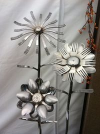 Recycled Utensil Art