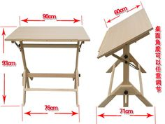 Collection of the best drawing tables and art desks. Also called drafting table, here are the best for artists, architects, designers and students. Diy Light Table, Diy Table, Handmade Furniture, Diy Furniture, Furniture Design, Drawing Desk, Drawing Tables, Drawing Art, Puzzle Table