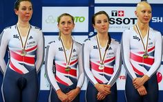 Daily Telegraph: Great Britain's women's pursuit team thrashed by Australia at Track Cycling World Championships. Archibald, Trott, Barker & Rowsell.