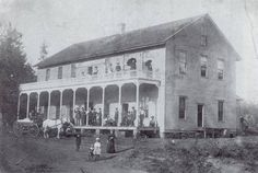 Brookside Hotel, Old Willapa, WA Pacific County ca. 1890