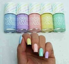 Nails - http://yournailart.com/nails-402/ - Love the pastels...reminds me of Easter all year round!