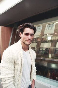 I wish I could knit a sweater like that for my guy, and make him wear it lol
