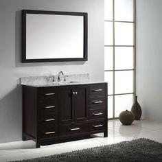 Virtu Caroline Avenue GS-50048 48 in. Single Bathroom Vanity with Square Sink | from hayneedle.com