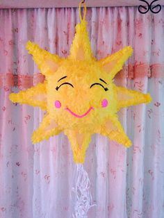 Piñata sun for this summer celebration 20 tall to fill with up to 7 pounds of candy not included