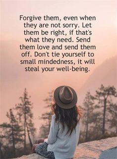 Forgiveness is freeing. Yes, it frees the 1 who hurt u. But most importantly, forgiveness gives u freedom from feeling neg emotion & being triggered, & from being a victim. It gives u the courage to move forward with ur life, without a heavy weight on u.❤