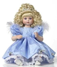 "*NEW* MARIE OSMOND DOLL PORCELAIN MILLENNIUM ANGEL BABY 12"" SITTING #MarieOsmond…"