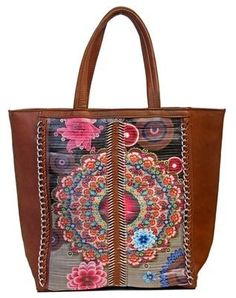 ee300039334b Oversized totes are still in this fall! And this Delilah tote with chain  detailing and amazing patterns from Coco + Carmen will surely turn heads!