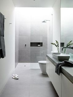 50 best of modern bathroom renovation ideas find this pin and more on bathroom bedroom eyes . 50 best of modern bathroom renovation Light Grey Bathrooms, Grey Bathroom Tiles, Bathroom Tile Designs, Ensuite Bathrooms, Modern Bathroom Design, Bathroom Interior Design, Bathroom Ideas, Bathroom Black, Master Bathroom