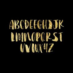 gold foil typography | Molly Jacques