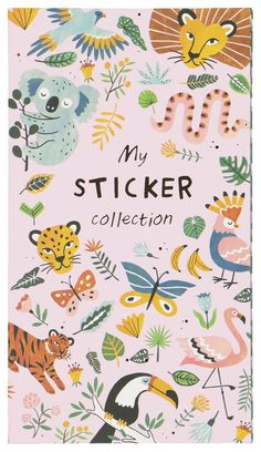 Stickeralbum mit 9 Aufkleberbogen - 14502293 - HEMA Tropical Animals, To Go, Exercise Book, Image Stickers, Personalized Stickers, Jungle Animals, Album, School Supplies, Stationery