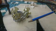 The bird's torso made and ready for the wings to be added. Some miner work needed.