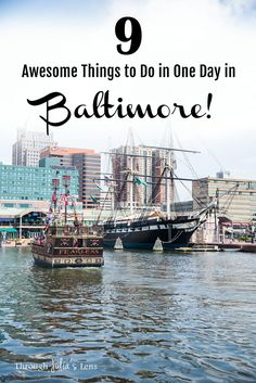 Baltimore is the perfect day trip from Philadelphia or Washington D., and these are the top 9 things to do in one day in Baltimore! Us Travel Destinations, Places To Travel, Places To See, Visit Maryland, Baltimore Maryland, Maryland Day Trips, Dc Travel, Travel Trip, Cheap Travel