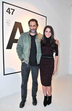 Bosco Sodi y Kelly Talamas, Directora Editorial de Vogue M�xico y Latinoam�rica