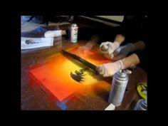 Dragon Spray Paint Art