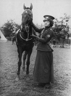 War Horse News shared Mabel St Clair Stobart (1862 - 1954) who founded the Women's Sick and Wounded Convoy Corps, and organised hospitals in Europe during World War I. Picture: Paul Thompson/FPG