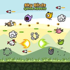 Game Assets - Sky Birds Sprite Sheets for Animation