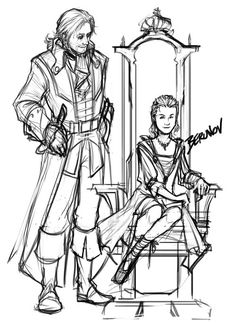 Lord Triple-P (Papa Pirate Protector) and Empress Jenny.