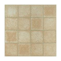 """Peel-n-stick"" vinyl tiles for kitchen floor & backsplash...Home Dynamix Vinyl Machine Cr me Marble Cubism Floor Tile (Set of 20)"