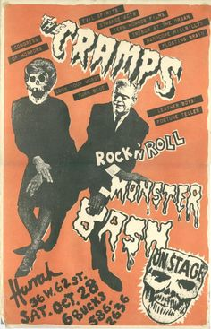 The Cramps Gig Poster-loved them in high school