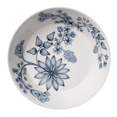 Iittala Runo, Talvitähti Painted Plates, Hand Painted, Delft, Diy And Crafts, Buffet, Mosaic, Decorative Plates, Container, Blue And White