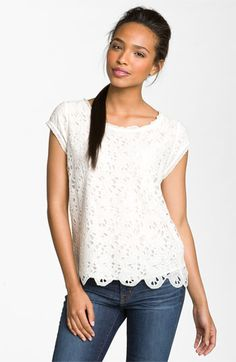 Joie 'Basillica' Eyelet Cotton Top | Nordstrom - find a cheaper version