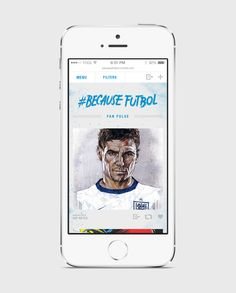 Early mobile design for Hyundai FIFA Because Fútbol Tumblr site.