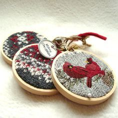 I actually really dig embroidery hoop crafts, especially since you can take the craft off the hoop and put something else seasonal on. Ebay probably sells plenty of old embroidery hoops for not too much.