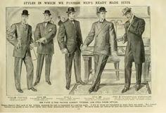 1906 men's suits, Edwardian era mens fashion
