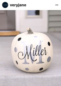 Another great find on Silver & Black Personalized Pumpkin Decal Set by The Vinyl Company Pumpkin Art, Pumpkin Crafts, Fall Crafts, Pumpkin Carving, Holiday Crafts, Holiday Fun, Holiday Decor, Pumpkin Painting, Pumpkin Ideas