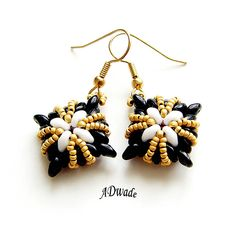 Beaded earrings from wasp nests I