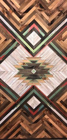 Produkty podobne do Rustic Aztec Barn Door w Etsy Art Rustique, Pallette, Garage Door Makeover, Front Door Colors, Front Doors, Diy Holz, Barn Quilts, Wood Patterns, Picture On Wood