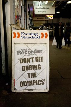 Don't Die During the Olympics