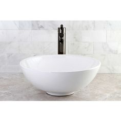 Round Vitreous China Above-Counter Vessel Sink $106 free shipping