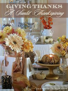 Giving Thanks ~ A Sunlit Thanksgiving