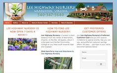 Home and Garden Website Design - http://www.leehighwaynursery.com -- Lee Highway Nursery is a garden center and farmer's market in Warrenton, Virginia, offering full-service landscape design and installation services to homeowners in and around Fauquier and Culpeper Counties.  For more information about home and garden website design services, visit http://www.herbstmarketing.com