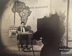Le premier présentateur du journal télévisé, Larbi Skali