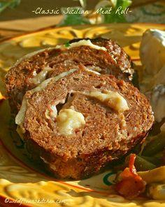 Classic Sicilian Meat Roll with Prosciutto & Mozzarella